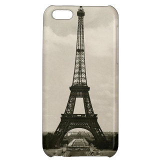 Vintage Black & White Eiffel Tower Cover For iPhone 5C