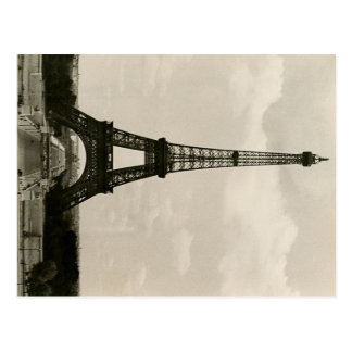 Vintage Black & White Eiffel Tower Postcard