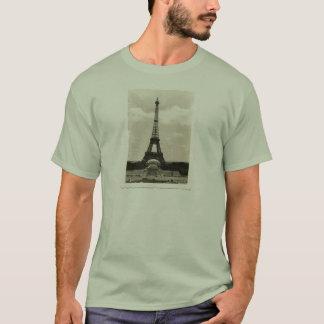 Vintage Black & White Eiffel Tower T-Shirt