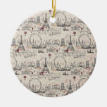 Vintage Black & White Europe Images Ceramic Ornament at Zazzle