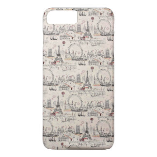 Vintage Black & White Europe Images iPhone 7 Plus Case