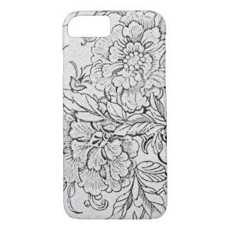 Vintage Black & White Floral iPhone 7 Case
