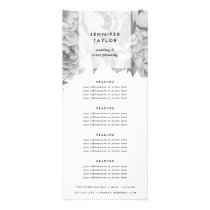 Vintage Black & White Floral Pricing or Services Rack Card