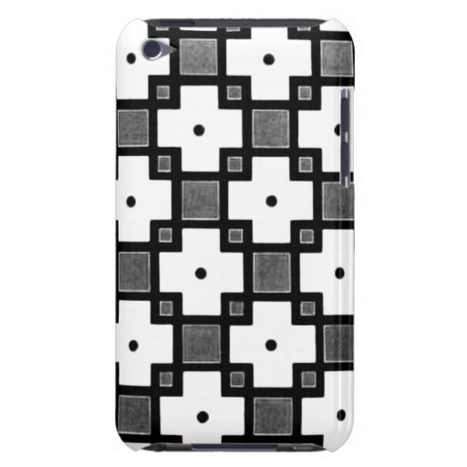 Vintage Black White & Grey Pattern Barely There iPod Covers