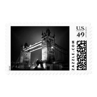 Vintage Black White London Tower Bridge Postage Stamp