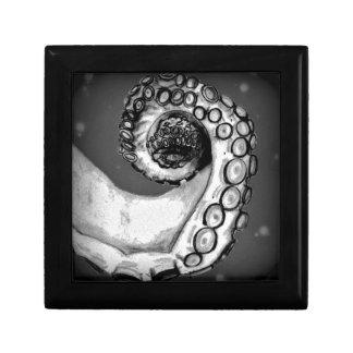 Vintage Black & White Nautical Octopus Tentacle Keepsake Box
