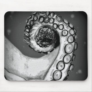 Vintage Black & White Nautical Octopus Tentacle Mouse Pad