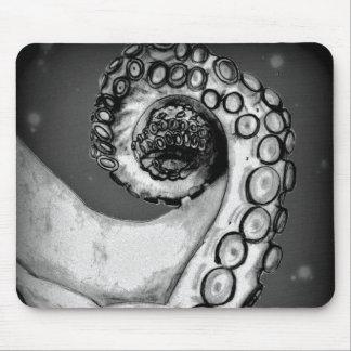 Vintage Black & White Nautical Octopus Tentacle Mouse Pad