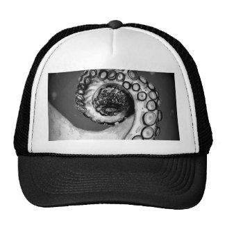Vintage Black & White Nautical Octopus Tentacle Trucker Hat