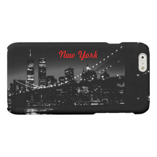 Vintage Black White New York City Matte iPhone 6 Case