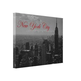 Vintage Black & White New York CityWrapped Canvas