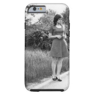 Vintage Black & White Photo of Mod Girl Tough iPhone 6 Case