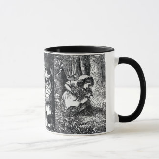 Vintage Black White Red Riding Hood Drawings Mug