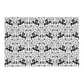 Vintage Black White Swirl Placemat