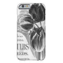 Vintage Black & White Tulip iPhone 6 case