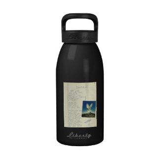 vintage blackbird poem reusable water bottles