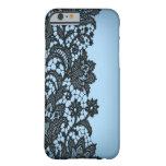 Vintage blackLace aqua Paris fashion iPhone5case Barely There iPhone 6 Case
