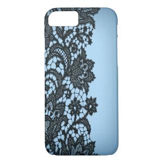 Vintage blackLace aqua Paris fashion iPhone5case iPhone 7 Case