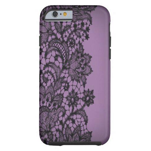 Vintage blackLace purple Paris fashion iPhone5case iPhone 6 Case