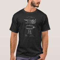 Vintage Blacksmith Anvil Patent Illustration T-Shirt