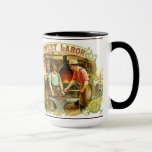 Vintage BLACKSMITH Image on Mug HONEST LABOR