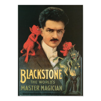 """Vintage Blackstone el mago principal del mundo Invitación 5"""" X 7"""""""