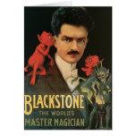 Vintage Blackstone el mago principal del mundo Tarjeta De Felicitación