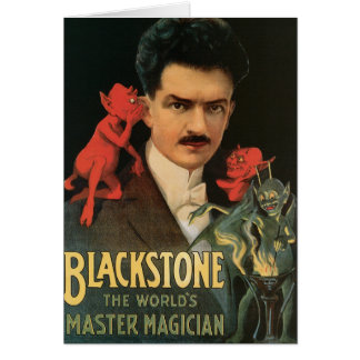 Vintage Blackstone el mago principal del mundo Tarjeton