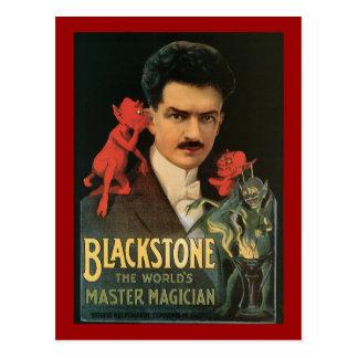 Vintage Blackstone el mago principal del mundo Postal