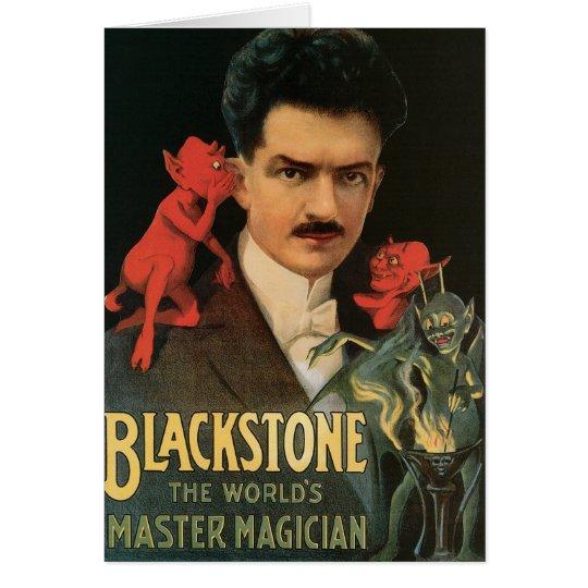 Vintage Blackstone The World's Master Magician Card