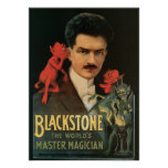 Vintage Blackstone The World's Master Magician Poster
