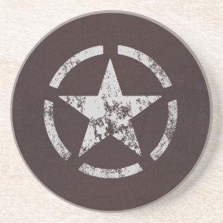 Vintage blanco aliado de la estrella de los E.E.U. Posavasos De Arenisca
