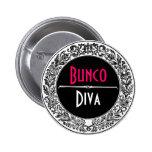 Vintage blanco y negro clásico Bunco Pins