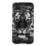 Vintage blanco y negro del tigre carcasas para galaxy s5