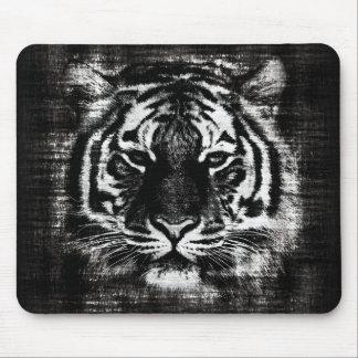 Vintage blanco y negro Mousepad del tigre Alfombrilla De Raton