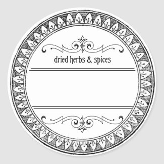 Vintage Blank Herbs and Spices Labels