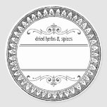 Vintage Blank Herbs and Spices Labels Classic Round Sticker