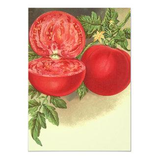 Vintage Blank Ripe Tomatoes Tomato vine Invitation