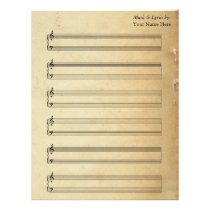 Vintage Blank Sheet Music  Piano Staves