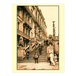 Vintage Blankenberge escalera de los leones Postales