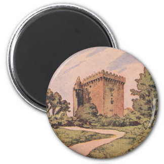 Vintage Blarney Castle 2 Inch Round Magnet