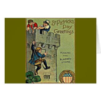 vintage blarney castle greeting card