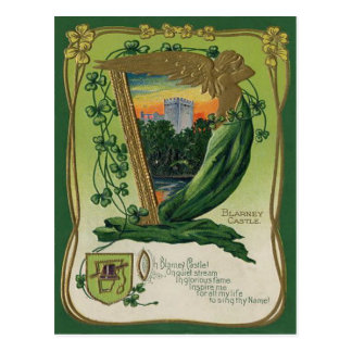 Vintage Blarney Castle St Patrick s Greeting Card Post Cards