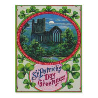Vintage Blarney Castle St Patrick's Day Card Postcard