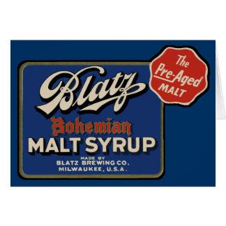 Vintage Blatz Beer Greeting Card