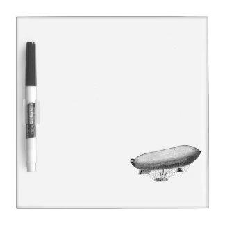 Vintage Blimp Old Zeppelin Retro Hot Air Balloon Dry-Erase Board