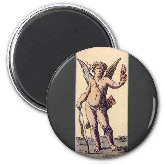 Vintage Blindfolded Cupid, Valentines Tarot Card Magnet