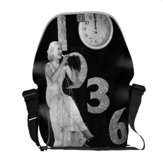 Vintage Bling New Years Eve Countdown Art Deco Courier Bag