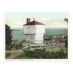 Vintage Block House Mackinac Island Michigan Postcards