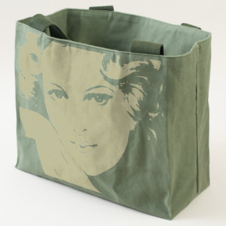 Vintage Blond Hair Woman Canvas Utility Tote Bag